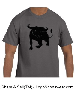 Grey Bull T Design Zoom